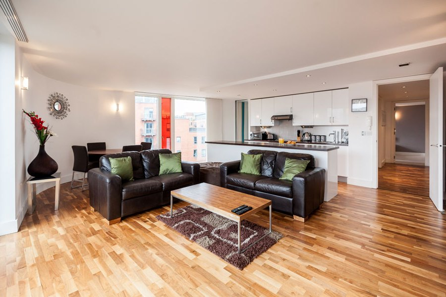 Living Area In A KSpace Serviced Apartment In Sheffield ...