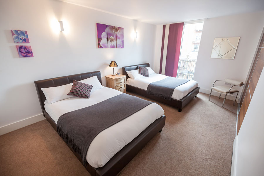 2 Bed Triple Apartments Kspace Serviced Apartments Sheffield